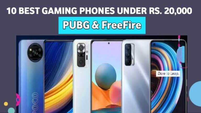 10 best gaming phones under Rs. 20,000 For Free Fire and PUBG 2021